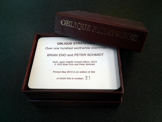 Brian Eno Oblique strategies cards