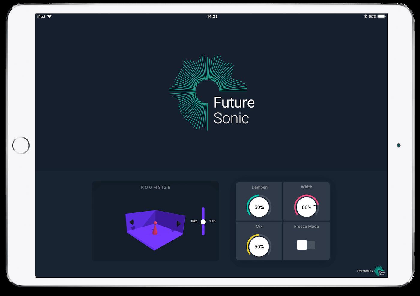 FS FreezeVerb Reverb AUv3 App iPad