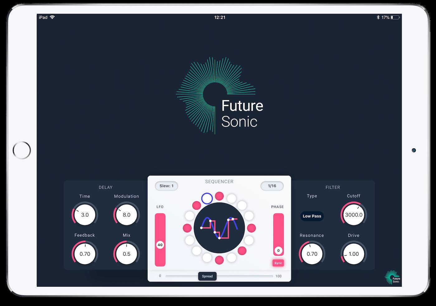 FS Refraktor Flanger AUv3 App iPad
