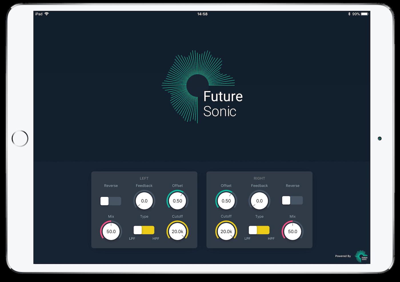 FS Reverser Delay AUv3 App iPad